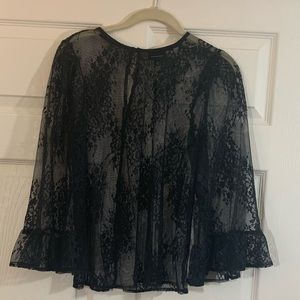 Who what wear | Black Lace | Top | Bell Sleeve